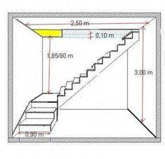 Bonjour a tous... qui pourrais m'aider dans le calcul de mon projet d'escalier avec palier en beton ? en sachant que je souhaite ouvrir un minimum le tremie si possible apres ... (34 réponses) #DiseñoDeEscaleras Home Stairs Design, Railing Design, Interior Stairs, Loft Stairs, House Stairs, Steel Stairs, Stair Plan, Staircase Landing, Building Stairs