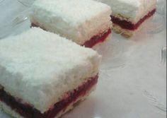 Kókuszhavas szelet recept foto Sweet Recipes, Cheesecake, Food And Drink, Pie, Drinks, Christmas, Bakken, Torte, Drinking
