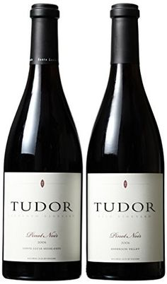 Authentic Tudor Wines Vertical Hook Vineyard Pinot Noir Wine Mixed Pack 2 x 750 mL