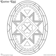 Printable medium egg pattern. Use the pattern for crafts ...