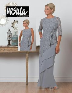 Ursula 61471 Plus Size Tiered Mother of the Bride Jacket Dress Mother Of The Bride Jackets, Mother Of The Bride Plus Size, Mother Of The Bride Dresses Long, Mother Of Bride Outfits, Mothers Dresses, Long Mothers Dress, Mob Dresses, Plus Size Dresses, Plus Size Outfits