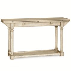 """54"" wide white console table"" 