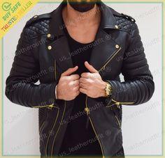 New Men's Stylish Slim Fit Lambskin Genuine Leather Motorcycle Biker Jacket Motorcycle Jacket, Military Jacket, Biker, Lambskin Leather Jacket, Leather Jackets, New Man, Men's Fashion, Menswear, Slim