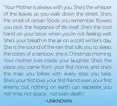 I love this. I'm so lucky to still have my mom. She is my best friend. I hope that my son feels the same about me.