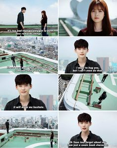 I mean, I'm passed this point and everything and know that things get better but stilllllll~ W Two Worlds W Korean Drama, Korean Drama Quotes, Drama Korea, W Kdrama, Kdrama Memes, Jung Suk, Lee Jong Suk, Lee Jung, W Two Worlds Art