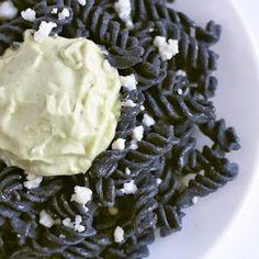Black Bean Rotini with Avocado Crema | Hola Croqueta