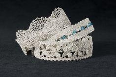 Needle Lace, Bobbin Lace, Lace Jewelry, Wedding Jewelry, Lace Bracelet, Lace Heart, Lace Making, Lace Patterns, Lace Design