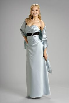 2015 Sweetheart Sleeveless Ruched Floor Length Satin Shawl Mother of the Bride…