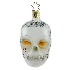 Inge Glas SKULLY Ornament Halloween Skull Head