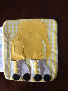 Interactive Soft Baby Book-Elephant Page with Roller Blade Practice Buttons- Available at www.BeBeBuntingBoutique.com