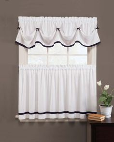 25 best tier curtain images tier curtains kitchen window rh pinterest com