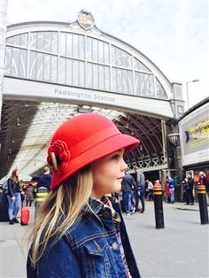 Girls London Red Cloche Hat 22014cf28008