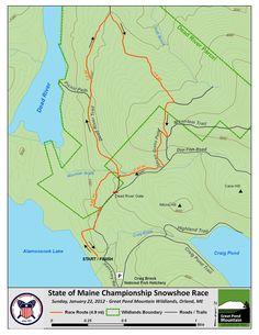 2014 Snowshoe Race Map