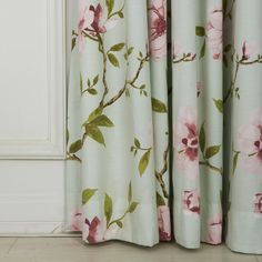 Country Flower and Leaves Eco friendly Curtain Floral Curtains, Decorating Your Home, Eco Friendly, Leaves, Interior Design, Country, Flowers, Home Decor, Nest Design