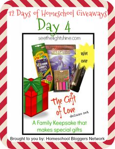 Enter to win art curriculum from See the Light in the 12 Days of Homeschool Giveaways from the Homeschool Bloggers Network!