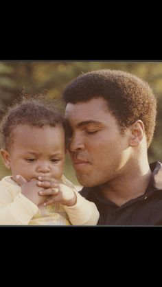 Muhammad Ali and his daughter, Hana Ali
