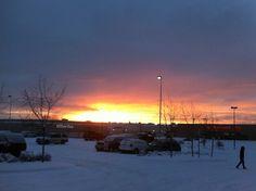 Sunset outside my work