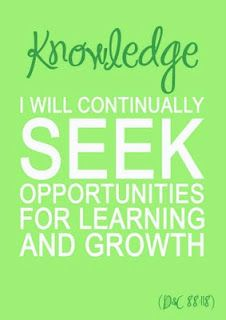 I will continually seek opportunities for learning and growth.
