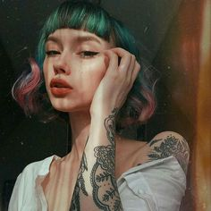 Short Hair With Bangs, Hairstyles With Bangs, Trendy Hairstyles, Short Hair Styles, Hair Inspo, Hair Inspiration, Beautiful Hair Color, Coloured Hair, Cecile