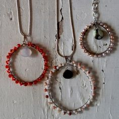 Valentine Wire Wrapped Pendant Necklaces