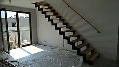 Central String Staircases ,Loft Staircase -M2M - Metal , Any type- quotation | eBay Loft Staircase, Staircase Landing, Staircases, Banister Rails, Banisters, Steel Stairs, Wood Stairs, Fire Escape, Interior Stairs