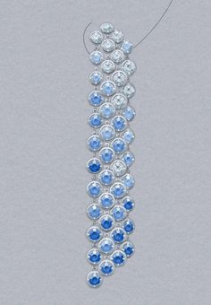 Brume de saphir earrings: Sapphires and diamonds. © Van Cleef &Arpels - Gouaché