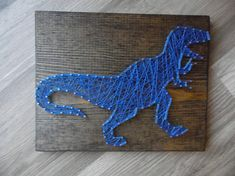 Items similar to Dinosaur Set Sting Art - Dino Decor - T Rex Art - Triceratops Decor - String Art - Boys Room Decor - Dinosaur - Dinosaur Wall Decor on Etsy String Art Templates, String Art Patterns, Crafts For Boys, Arts And Crafts, Diy Crafts, Nail String Art, Dinosaur Art, Do It Yourself Crafts, Art Mural
