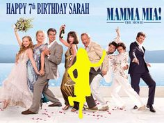 """MAMMA MIA + Your PARTY PERSON A4 10"""" x 7.5"""" cake topper"""