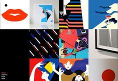 Love the graphic quality of the flat shapes  {Create the perfect design portfolio: 30 pro tips   Portfolios   Creative Bloq}
