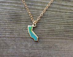 Tiny California Patina Necklace by NINOTCHKAgoods on Etsy, $48.00