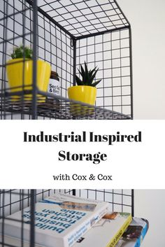 Industrial Inspired Storage by Cox & Cox - Coffee Work Sleep Consulting Home Decor Inspiration, Interior Trend, Industrial Style, Homeware Trends, Industrial Interiors, Home Diy, Inspiration, Storage, Decorating Your Home