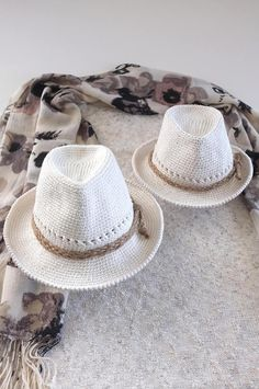 Mommy and Me Fedora Hats Packable Panama Hats Cotton Crochet