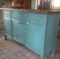 repurpose old furniture / dressers into kitchen island | Susan Burlison's Project Commander | Fun and Economical DIY Videos For ...