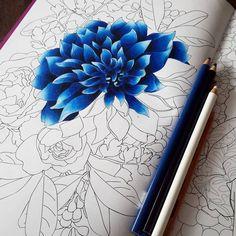 💙 Fleurs 💙 WIP with my Prismacolor pencils :) #arttherapie #fleurs #flowers #arttherapy #rose #blue #gradient #coloringbook #coloriage #adultcoloringbook #coloring #pencils #crayons #prismacolor #art #arteterapia #50shades #bleu #hachette #loisirs #flower #deep #happy #afternoon  Follow me on : 💙 Facebook : http://www.facebook.com/sundaymorningcreationscolorie 💙 Youtube : http://www.youtube.com/c/sundaymorningcreations