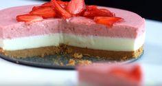 #Torta con mousse al cioccolato bianco e fragole: un delicato dessert perfetto per l'estate!