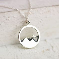 Sterling Silver Mountain Range Pendant. This abstract mountain range pendant will remind you of your favorite place to vacation, or display love
