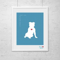 Staffordshire Terrier  Staffy   Wall Art  Dog by DogLoveShoppe, $17.50