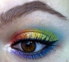 <3 <3 <3 This Rainbow Makeup!