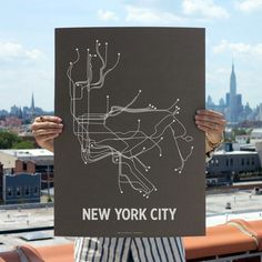 NYC Screenprint Brown, $22, now featured on Fab.
