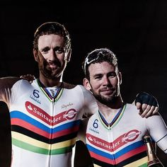 Bradley Wiggins & Mark Cavendish Six Day Gent 2016 Bradley Wiggins, Mark Cavendish, Cycling, Track, Bike, Board, Biking, Bicycle, Runway