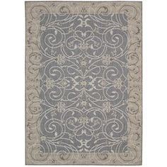 Brittany Blue Outdoor Area Rug