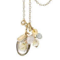 Stunning pendants with individual gemstones and diamonds #lotuscollection #unique #handpicked #rutilequartz #whitemoonstone #citrine #pave #diamonds #olelynggaardcopenhagen #olelynggaard #charlottelynggaard @charlottelynggaard_dk