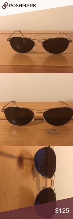 7b0d91de12 Oliver people s sunglasses Small gold aviator style frame with brown lens  Oliver Peoples Accessories Sunglasses