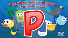 Words that start with the letter P for children in Spanish
