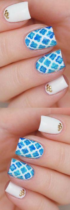 Quatrefoil nail stencils/ Quatrefoil pattern nail vinyls/ Nail decoration supplies/ Nail art guides/ Nail tape/ Nails art    #nailart #ad #naildesigns