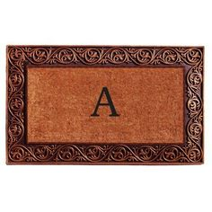 Home ; More Prestige Bronze Monogram Doormat - 18 x 30 in., Black