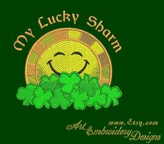 "My Lucky Sharm - Machine Embroidery Design for a Saint Partick's Day (March 17) for hoops 4x4"" for SALE  Machine Embroidery Designs Set For Sale  © ArtEmbroidery.ca"
