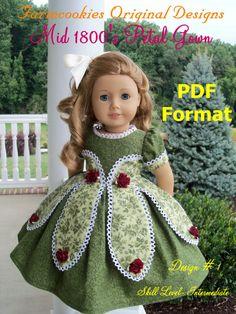 PDF Sewing PATTERN / Historical Mid 1800's Petal von Farmcookies