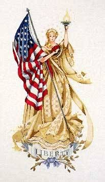 The Lady of the Flag by Mirabilia - Cross Stitch Kits & Patterns