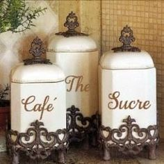 french coffee canister - Google Search